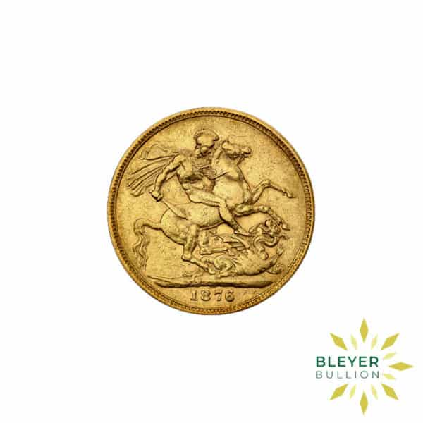 Bleyers Coin Cutouts Gold UK Sovereign Coins UK Gold Sovereign – Queen Victoria – Young Head FRONT