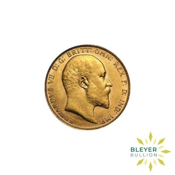 Bleyers Coin Cutouts Gold UK Sovereign Coins UK Gold Sovereign Edward VII Back