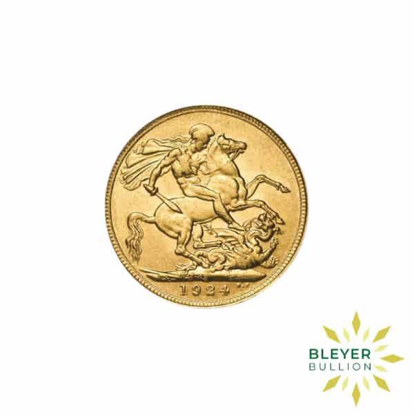 Bleyers Coin Full UK Gold Sovereign George V Back