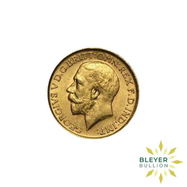 Bleyers Coin Full UK Gold Sovereign George V Front