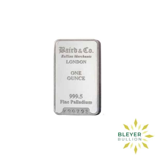 Palladium Baird Bars 1oz 1