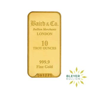 Bleyers Bar 10oz Baird Co Minted Gold Bar3