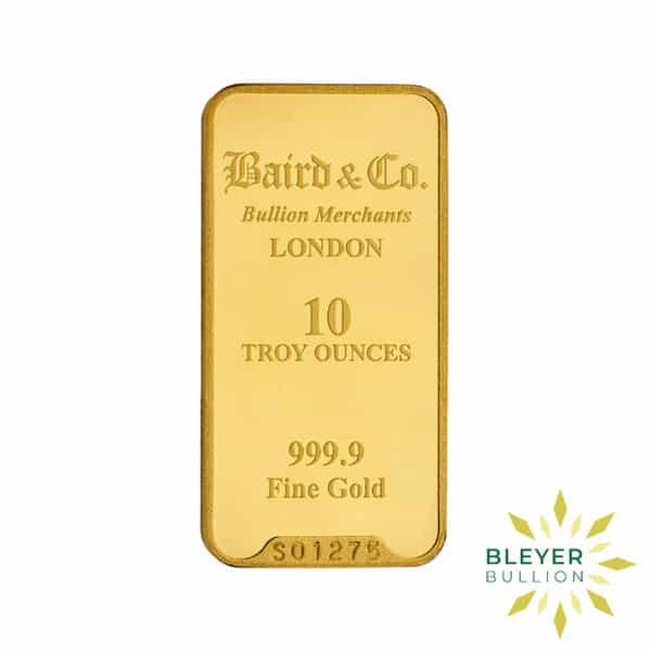Bleyers Bar 10oz Baird Co Minted Gold Bar3