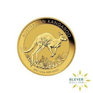 Bleyers Coin 2017 1 2oz Gold Australian Kangaroo Coin 1