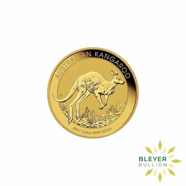 Bleyers Coin 2017 1 4oz Gold Australian Kangaroo Coin 1