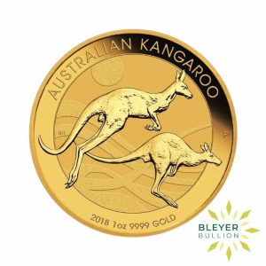 Bleyers Coin 2018 1oz Gold Australian Kangaroo Coin 1