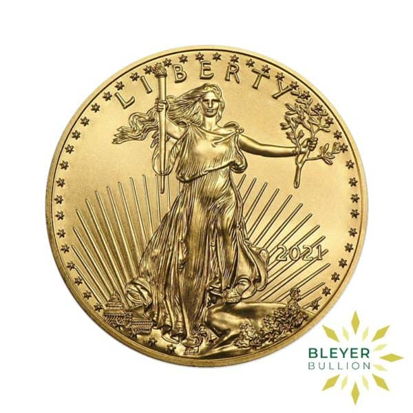 Bleyers Coin Cutouts 2021 Gold American Eagles Back