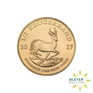 Bleyers Coins 2017 1 2oz Gold South African Krugerrand Coin 1