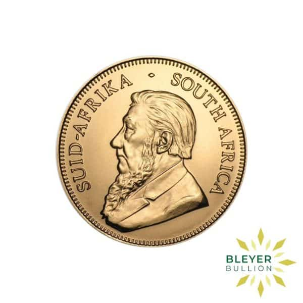 Bleyers Coins 2017 1 2oz Gold South African Krugerrand Coin 2