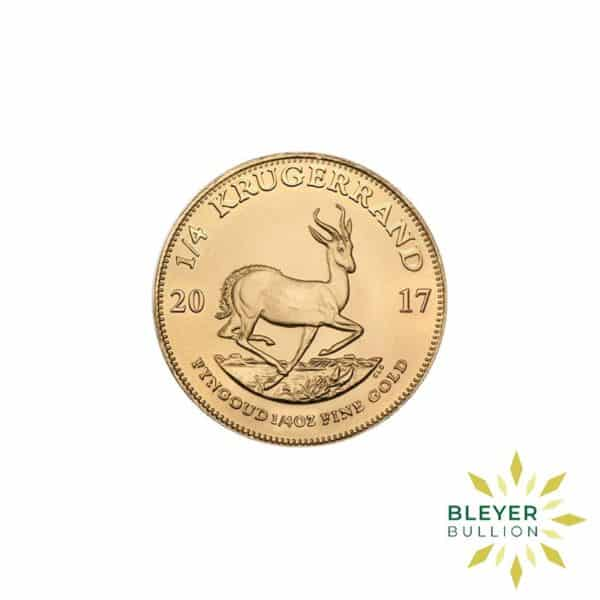 Bleyers Coins 2017 1 4oz Gold South African Krugerrand Coin 1
