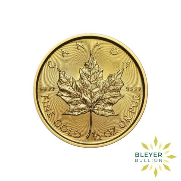 Gold Canadian Maple Coins 1 2 F
