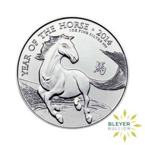 Bleyers Coin 1oz Silver UK Lunar Horse Coin 2014