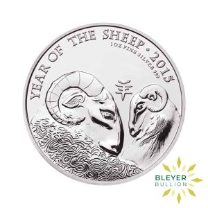 Bleyers Coin 1oz Silver UK Lunar Sheep Coin 2015 1