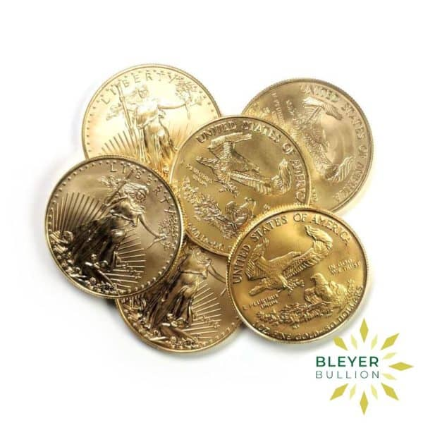 Bleyers Coin Cutouts Best Value Gold American Eagles 1oz Stack