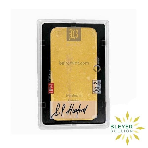 Bleyers Bar 5oz Baird Co Minted Gold Bar5