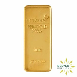 Bleyers Bar 1kg Umicore Cast Gold Bar 1