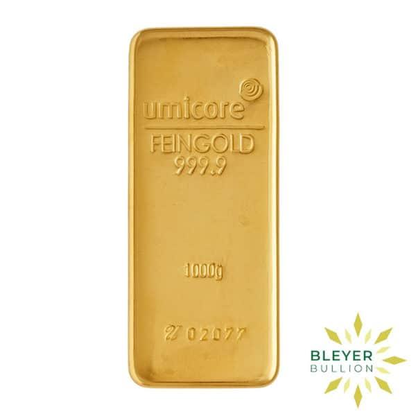 Bleyers Bar 1kg Umicore Cast Gold Bar 1