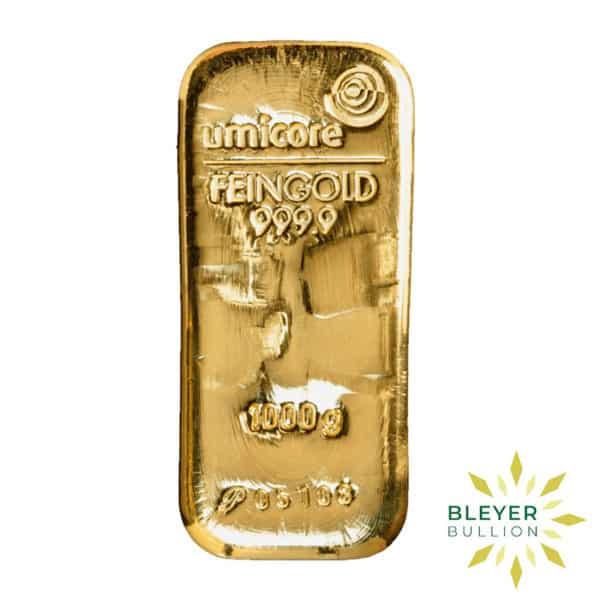 Bleyers Bar 1kg Umicore Cast Gold Bar 2