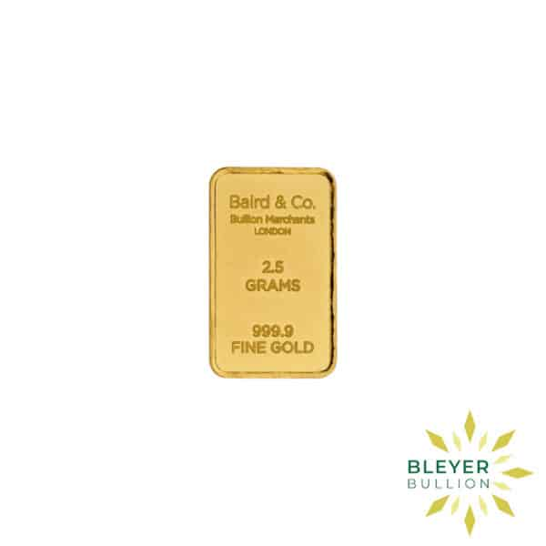 Bleyers Bar 2.5g Baird Co Minted Gold Bar3