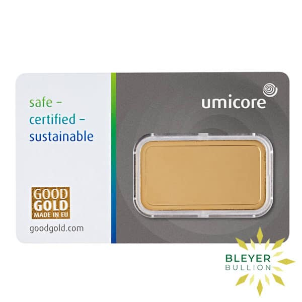 Bleyers Bar 20g Umicore Minted Gold Bar 2