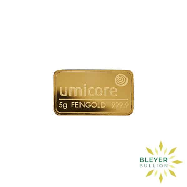 Bleyers Bar 5g Umicore Minted Gold Bar