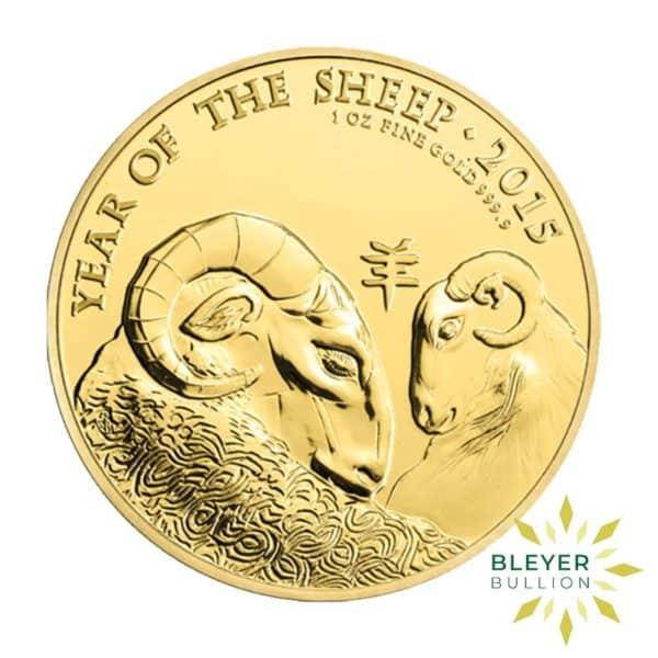 Bleyers Coin 1oz Gold UK Lunar Sheep Coin 2015 5