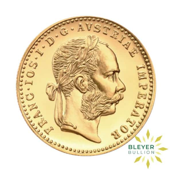Bleyers Coin 1 Ducat Austrian Gold Coin BACK