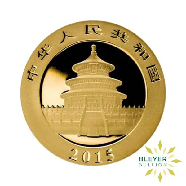 Bleyers Coin 1oz Gold Chinese Panda Coin 2015 2