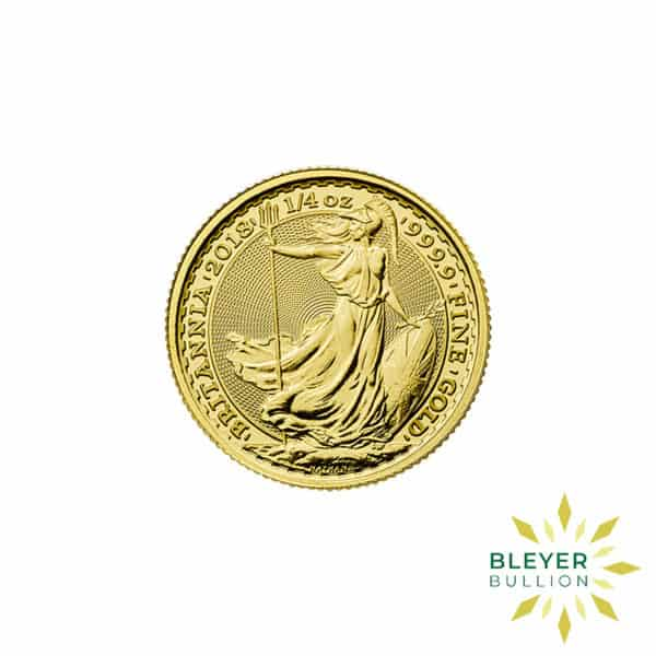 Bleyers Coin Best Value 14oz Gold UK Britannia Coins Front2
