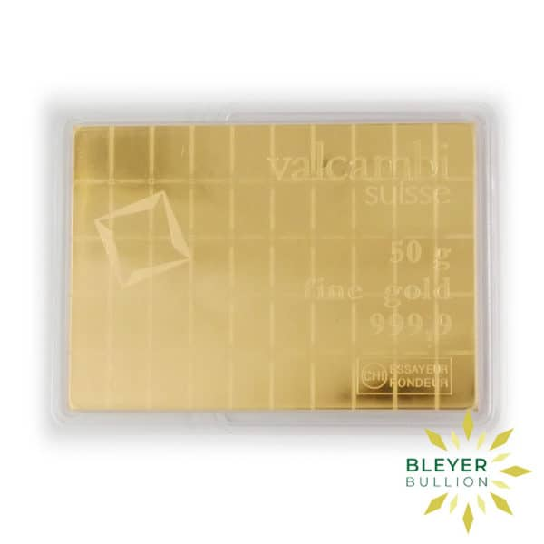 Bleyers Bars 50g Gold Valcambi Minted CombiBar 6