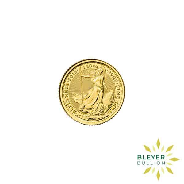 Bleyers Coin Best Value 110oz Gold UK Britannia Coin Front3
