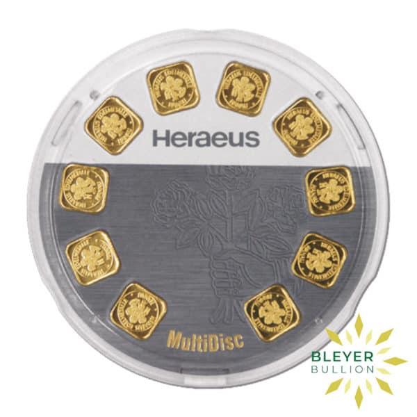 Bleyers Bars Heraeus MultiDisk – 10x 1g Gold Bars 1