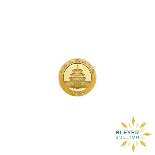 Bleyers Coin 1g Gold Chinese Panda Coin 2