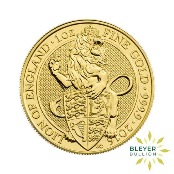 Bleyers Coins 1oz Gold UK Queens Beasts Lion 2016 1