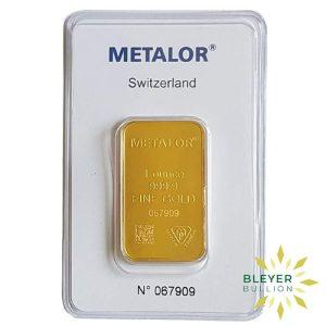 Bleyers Bars 1oz Metalor Minted Gold Bar 1