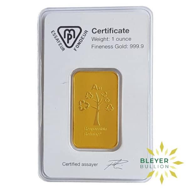 Bleyers Bars 1oz Metalor Minted Gold Bar 2