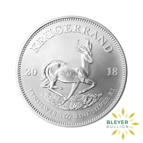 Bleyers Coin 1oz 2018 Silver Krugerrand FRONT