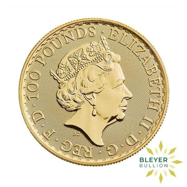 Bleyers Coin 1oz Gold UK Britannia Coin 2018 Back