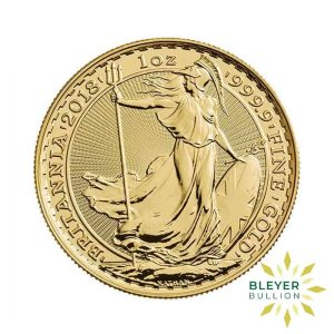 Bleyers Coin 1oz Gold UK Britannia Coin 2018 Front