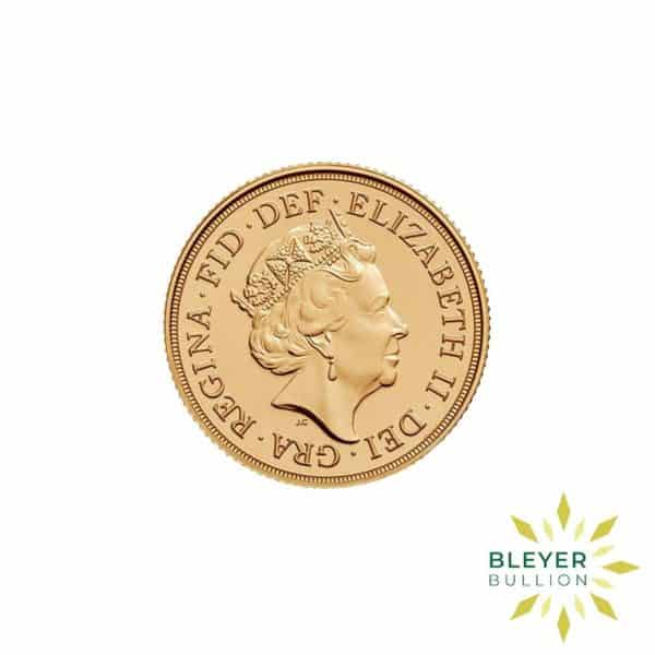 Bleyers Coin Cutouts Gold UK Sovereign Coins 2017 Anniversary Full Back