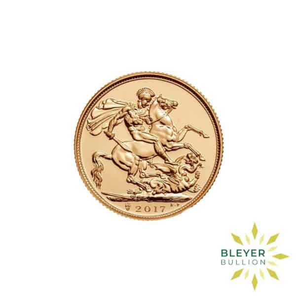 Bleyers Coin Cutouts Gold UK Sovereign Coins 2017 Anniversary Full Front