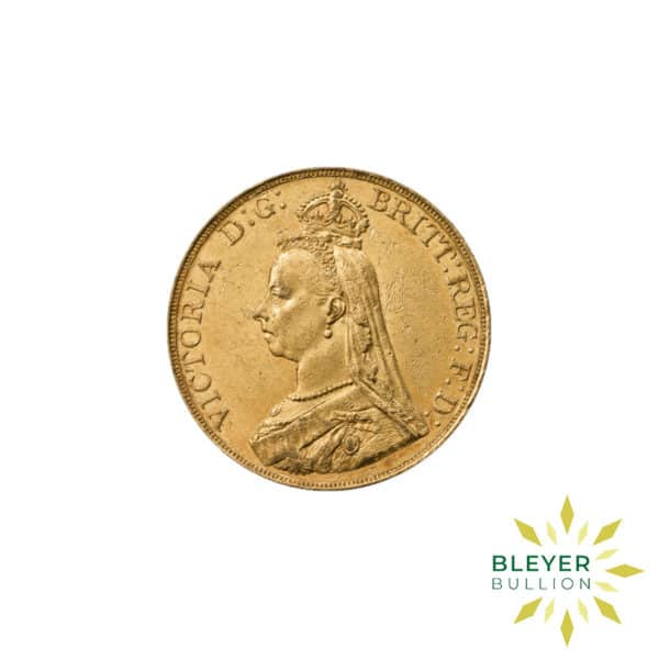 Bleyers Coin Full UK Gold Sovereign Queen Victoria Jubilee Head Back