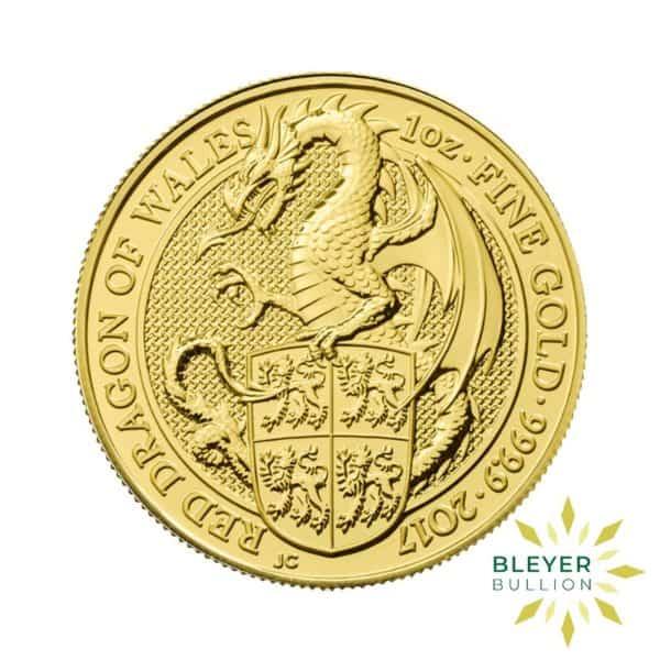 Bleyers Coins 1oz Gold UK Queens Beasts Dragon 2017 1