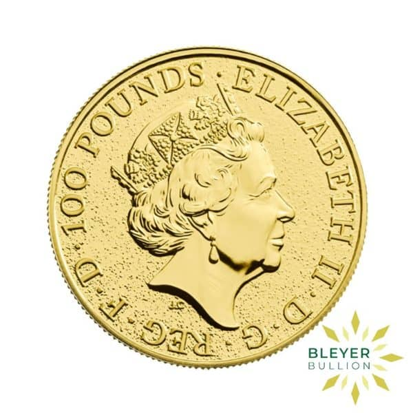 Bleyers Coins 1oz Gold UK Queens Beasts Dragon 2017 2