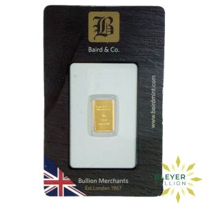 Bleyers Bar 1g Baird Co Minted Gold Bar5