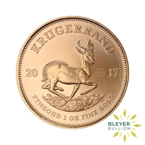 Bleyers Coins 1oz Gold South African Krugerrand Coin 50th Anniversary 4