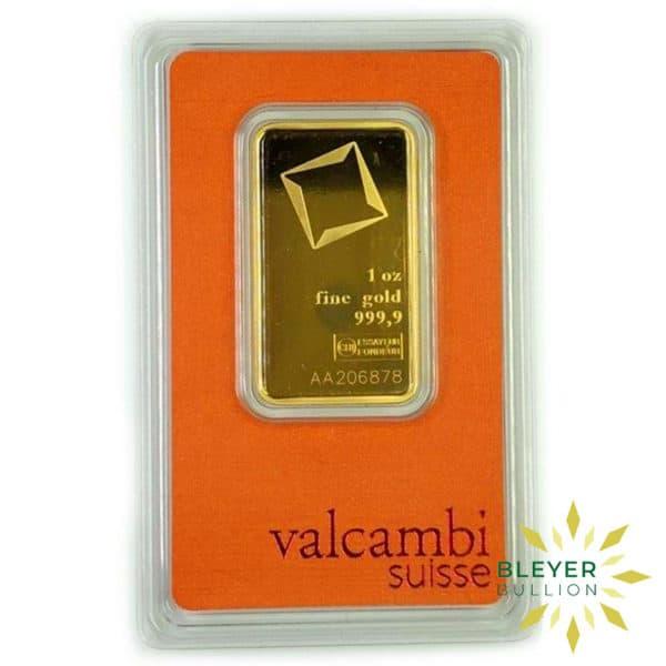 Bleyers Bars 1oz Valcambi Minted Gold Wafer Bar 1