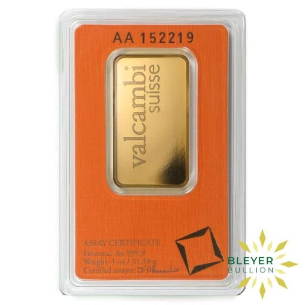 Bleyers Bars 1oz Valcambi Minted Gold Wafer Bar 4