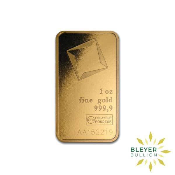 Bleyers Bars 1oz Valcambi Minted Gold Wafer Bar 5