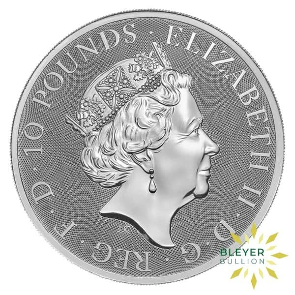 Bleyers Coins 10oz Silver UK Queens Beasts Lion 2017 2